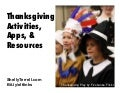 Thanksgiving Activities, Apps and Resources for Learners