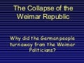 The collapse of the Weimar Republic