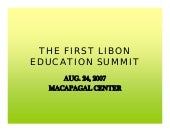 The First Libon Education Summit