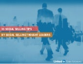 Social Selling tips by Top Social Selling Thought Leaders