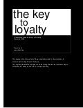 The Key to Loyalty - with notes