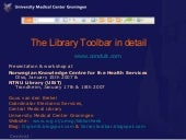 The Library Toolbar in Detail