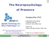 The NeuroPsychology of Presence