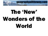 Key Stage 3 Geography: The 'New' Wo...