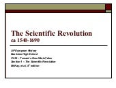 The Scientific Revolution V2007