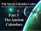 The Secret Calendar Codes 3 of 7