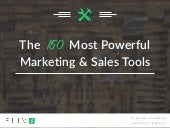The 150 Most Powerful Marketing & Sales Tools
