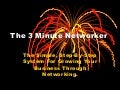 The 3 minute networker