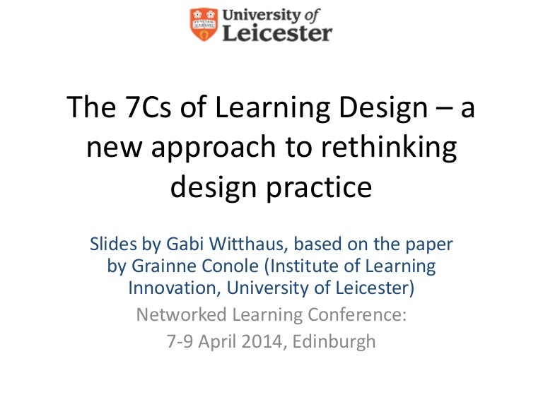 The 7Cs of Learning Design