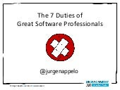 The 7 Duties of Great Software Prof...