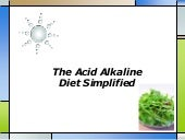 The acid alkaline diet simplified