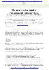 The appreciative inquiry   the appr...