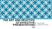 The art and practice of effective p...