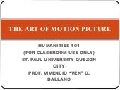 The Art Of Motion Picture (Also vis...