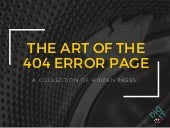 The Art of the 404 Error Page