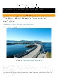 The atlantic road norway's construction of the century