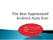 Themost appreciated android apps ever