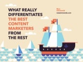 What Differentiates the Best Content Marketers