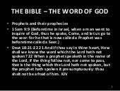 The Bible – The Word of God - Prophecy