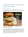 The Big Mac Index: How The Hamburger Knows You Are Fooled