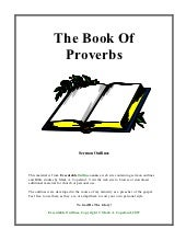 The book of proverbs (ot)