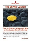 THE BRAND LEADER: Creating a winning Brand Positioning statement