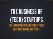 The Business of (Tech) Startups