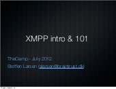 XMPP Intro - The camp2012