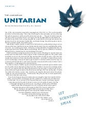 The Canadian Unitarian, Summer 2011