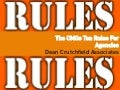 DCA The CMOs 10 Rules For Agencies