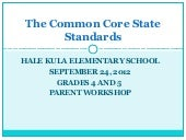 The common core state standards 4 5