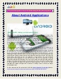 The common point of view for android application development