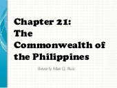 The commonwealth of the philippines