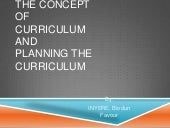 The concept of curriculum