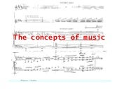 The concepts of music
