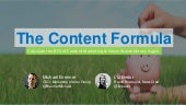 Content Marketing ROI: What's Your Content Formula?