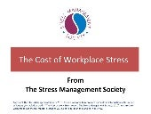The Costs Of Work Stress Edit By As V1