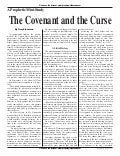 The Covenant And The Curse  -  Prophecy in the News Magazine -  October 2009