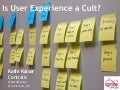 Is User Experience a Cult?