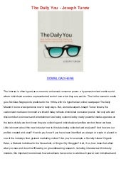 The daily you joseph turow