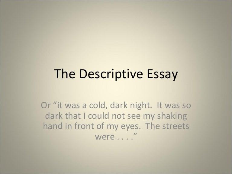 The construction of descriptive essays