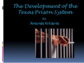 The development of the texas prison...