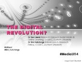 The Digital Revolution? For #MediaLit14, with @drbexl & @tim_hutchings