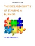 The do's and dont's of starting a business