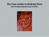 The easy guide to making pizza