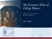 The Economic Value of College Majors