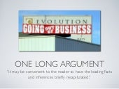 One Long Argument