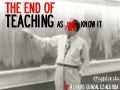 THE END OF TEACHING