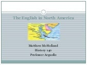 The english in north america