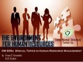 The environment for human resources